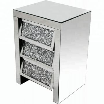 Crushed diamond chest of mirrored drawers 3